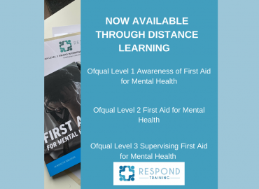 Respond Training Launches Mental Health First Aid Distance Learning Courses